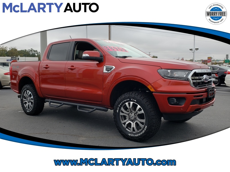 Pre-Owned 2019 FORD RANGER LARIAT 4WD SUPERCREW 5' BOX